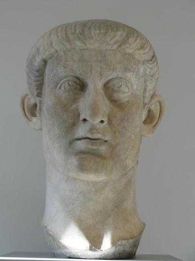 Marble portrait head of the emperor Constantine I, Metropolitan Museum of New York