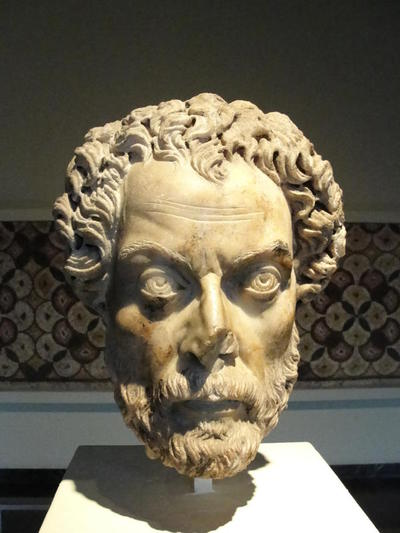 Bearded male portrait head, from Aphrodisias, now in Brussels, Musée du Cinquantenaire