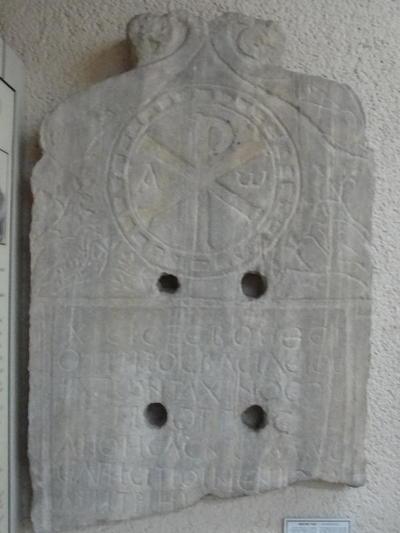 Gravestone of Poimenios, epigram; Ortaköy, Kuruçeşme, Archaeological Museum of Istanbul, 5th/6th century