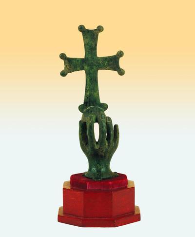 Μουσείο Ιεράς Μονής Κύκκου (Κύπρος): Ορειχάλκινη παλάμη βαστάζουσα σταυρό, 6ος-7ος αιώνας