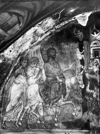 Press and Information Office, Republic of Cyprus: Nikitari, Church of Panagia (Our Lady) of Asinou, Christ's Entry into Jerusalem (2B-110-001)