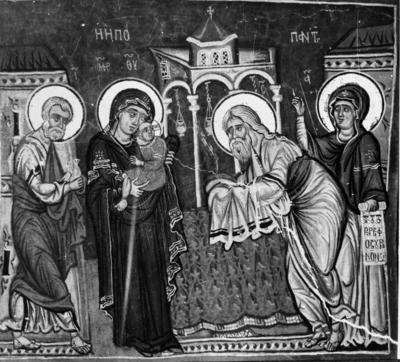 Press and Information Office, Republic of Cyprus: Nikitari, Church of Panagia (Our Lady) of Asinou, Presentation of Christ in the Temple (2B-114-001)