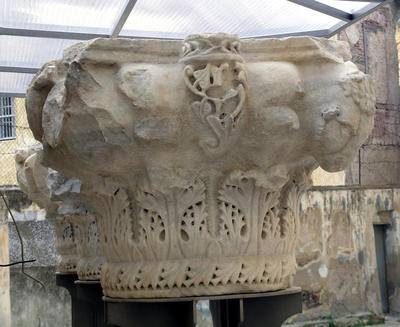 Capital from the basilica southeast of Heptapyrgion fortress, Citadel, Thessaloniki, Greece (now in the court of Heptapyrgion)