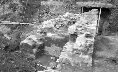 Archaeological remains of the early Christian basilica which precedes the existing church of Agia Sophia