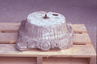 Capital from the atrium of the church of Agia Sophia (now in the Museum of Byzantine Culture of Thessaloniki)