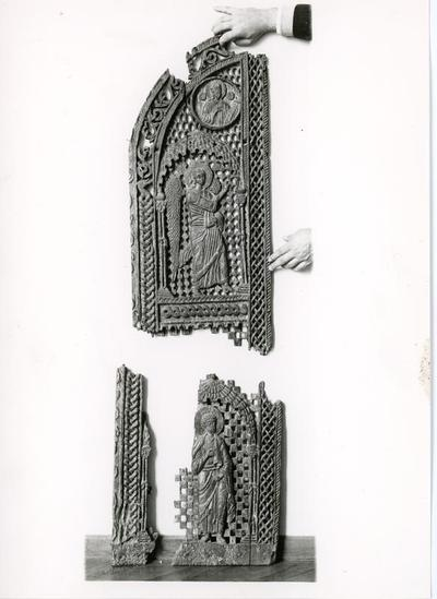 Chancel barrier door from the Byzantine Museum of Ioannina, Ioannina, Greece