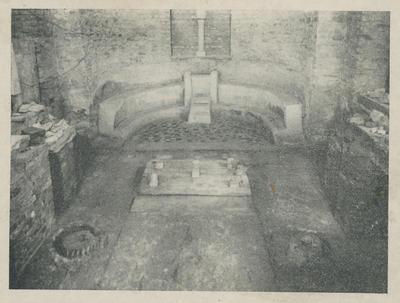 Grado: Santa Maria delle Grazie. Zona presbiteriale della basilica preeliana come è apparsa durante gli scavi del 1925