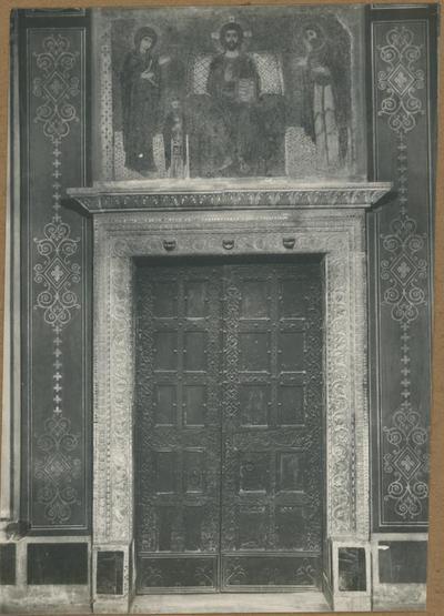Badia Greca di Grottaferrata. La Basilica - Porta principale e la