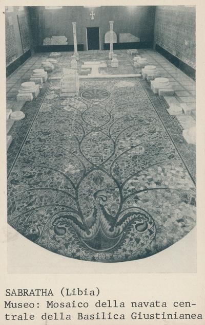 Sabratha (Libia): Museo: Mosaico della navata centrale della basilica giustinianea