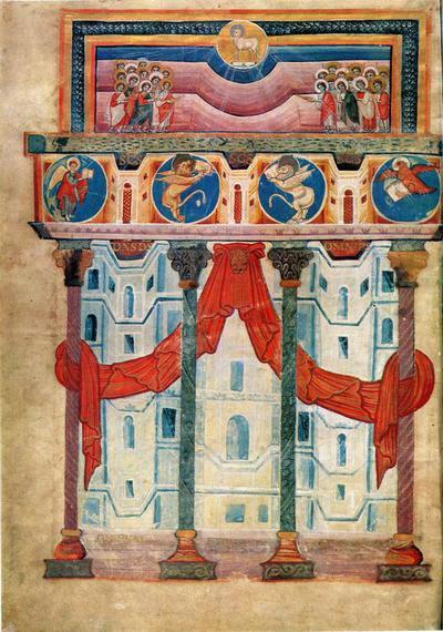 Parigi- Biblioteca Nationale - Evangeliario di Soissons - Adorazione dei magi - Scuola di Carlomagno (Aquisgrana 810 circa)