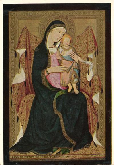 Altenburg (Germania). Staatliches Lindenau-Museum: Vergine in trono col Bambino (L. Memmi - 1317-1374)