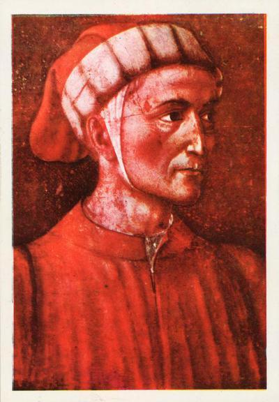Ritratto di Dante - Andrea del Castagno (Castagno 1423-1457)