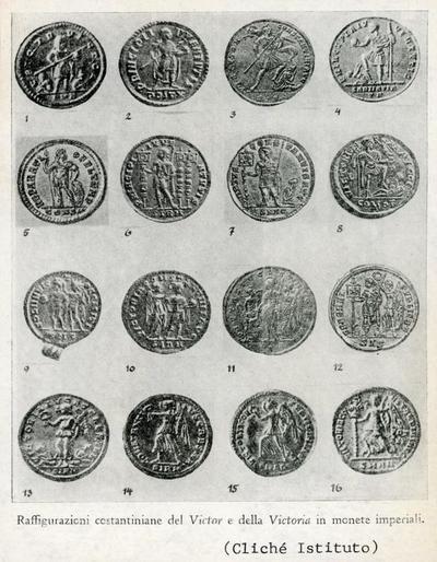 Raffigurazioni costantiniane del Victor e della Victoria in monete imperiali