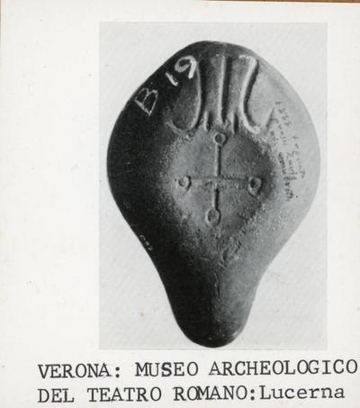 Verona, Museo archeologico del teatro romano: lucerna