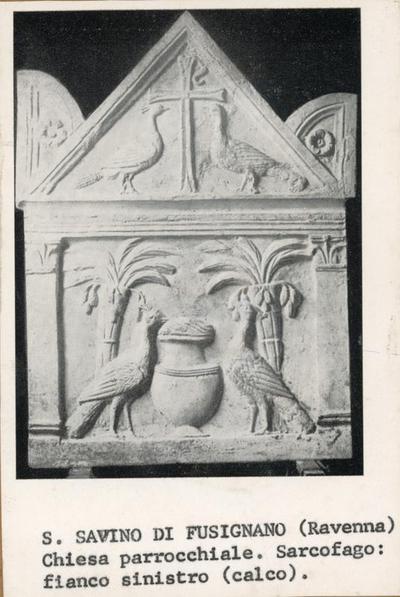 S. Savino in Fusignano (Ravenna). Chiesa Parrocchiale. Sarcofago: fianco sinistro (calco)