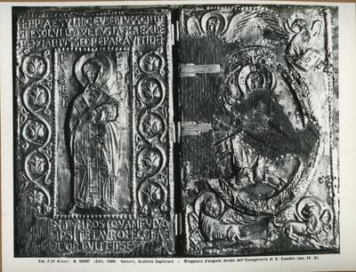 Vercelli, Archvio Capitolare- Rilegatura d'argento dorato dell'Evangeliario di S. Eusebio (sec. IX-X)