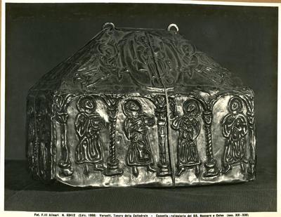 Vercelli, Tesoro della Cattedrale- Cassetta- reliquiario dei Ss. Nazzaro e Celso (sec. XII-XIII)