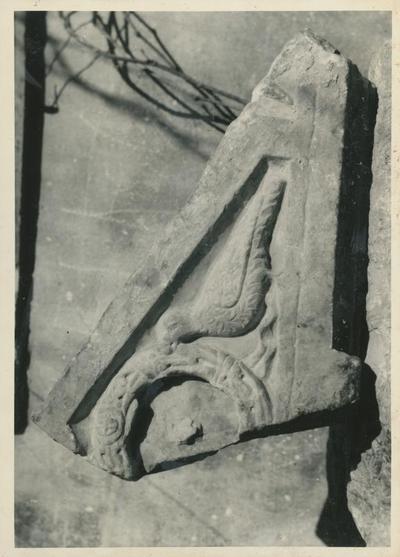 Parenzo (Jugoslavia): Museo Archeologico. reperto trovato durante gli scavi delle fondamenta dell'albergo Neptun (1968)