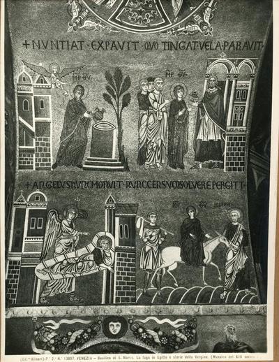 Venezia. Basilica di S. Marco. La fuga in Egitto e storie della Vergine (Mosaico del XIII secolo)