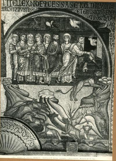 Venezia. Basilica di S. Marco, (vestibolo). L'arco baleno (Musaico del XII Sec.)