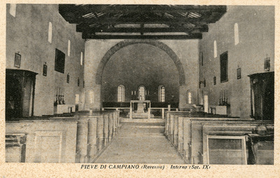 Pieve di Campiano (Ravenna)- Interno (sec. IX)