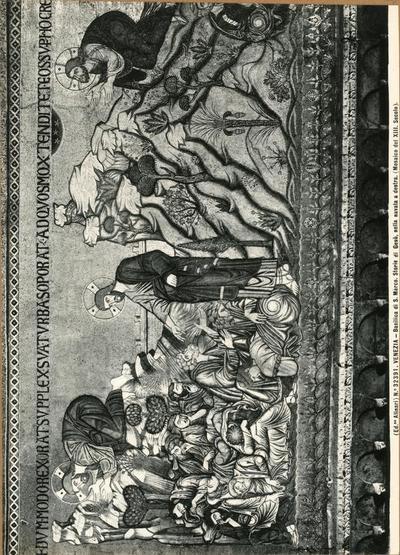 Venezia. Basilica di S. Marco. Storie di Gesù, nella navata destra (Mosaico del XIII secolo)