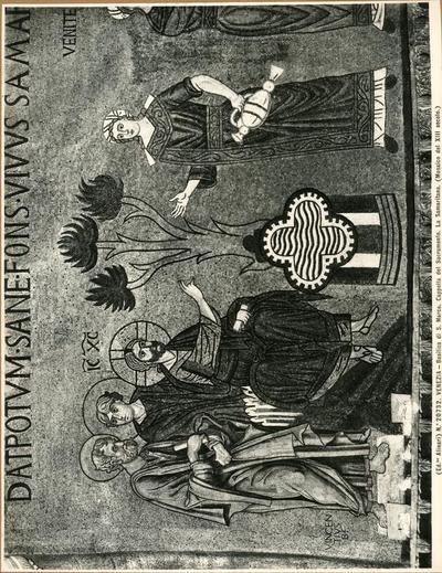 Venezia. Basilica di S. Marco. Cappella del Sacramento. La Samaritana (Mosaico del XIII secolo)