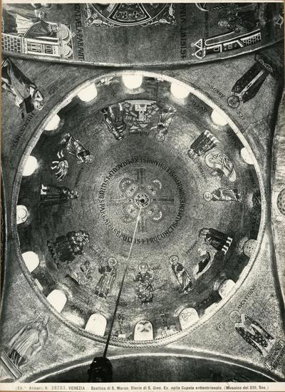 Venezia. Basilica di S. Marco. Storie di S. Giov. Ev. nella cupola settentrionale (Musaico del XIII secolo)