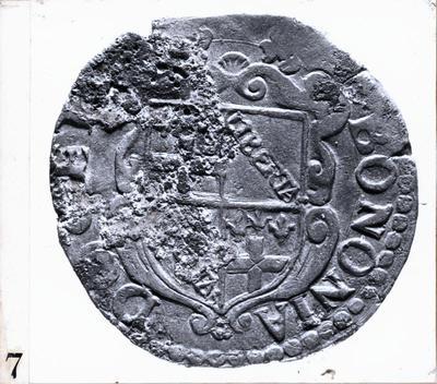 Ravenna: Museo nazionale. Sant'Apollinare in Classe: campionatura di monete negli scavi del 1981