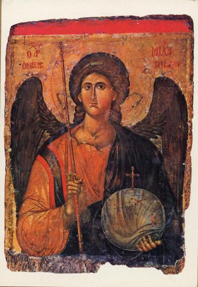Atene (Grecia). Museo Bizantino. L'arcangelo Michele (XIV sec.)