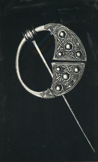 Londra: British Museum. Spilla d'argento trovata in Irlanda