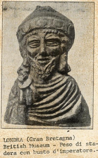 Londra (Gran Bretagna): British Museum. Peso di stadera con busto d'imperatore