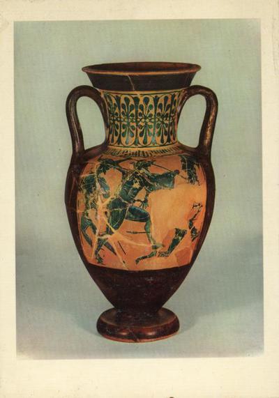 Adria. Museo Archeologico. Anfora a figure nere con Eracle dalla necropoli Retratto-Artessu