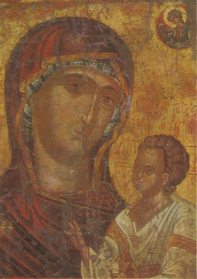 Sofia (Bulgaria). Museo storico-ecclesiastico. La Vergine col Bambino- Icona del 1541 proveniente dalla chiesa di S. Giovanni il Teologo di Sozopol