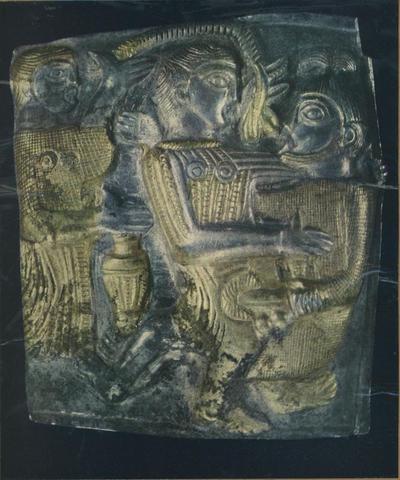 Loveč (Bulgaria). Museo Archeologico. Tesoro trace da Letnitza. Argento dorato- IV-III sec. a. C.