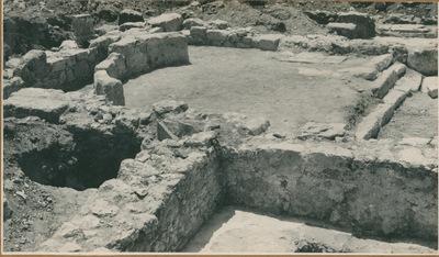 S. Croce Camarina (Contrada Pirrera). Il settore orientale della basilichetta col presbiterio e la parte absidale