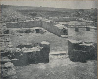 S. Croce Camarina. Basilica bizantina della Pirrera. Veduta del settore settentrionale dall'angolo N-O del nartece