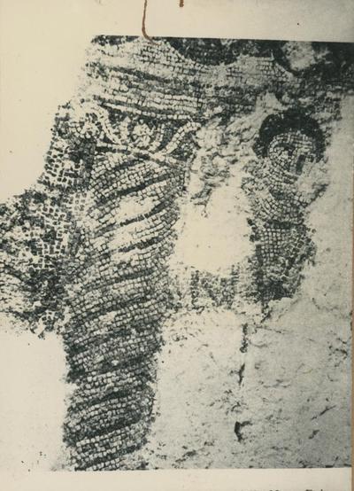 Centcelles (Spagna). Zona media della cupola: frammento della figurazione della Mater Dei nell'Adorazione dei Magi (?)