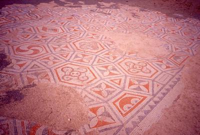 Crete, Gortys, Triconch, mosaic floor, detail
