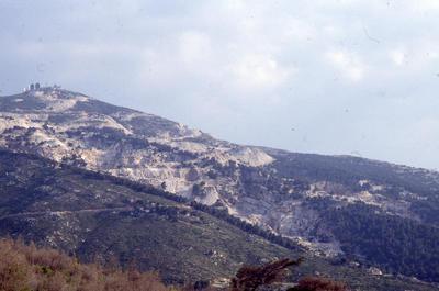 Mount Pentelicus, view of quarries