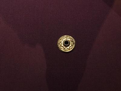 Bulgaria, Archaeological Museum of Preslav, Preslav Treasure, gilded silver applique