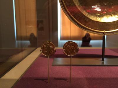 Bulgaria, Archaeological Museum of Preslav, Preslav Treasure, two solidi of Basil I and his son Constantine