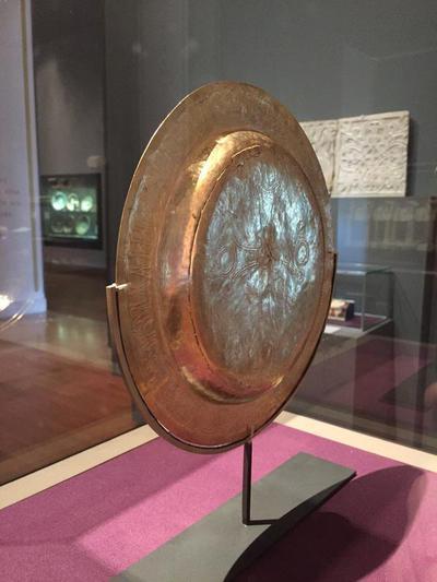 Bulgaria, National Archaeological Museum of Sofia, Preslav Treasure, liturgical plate with greek inscription