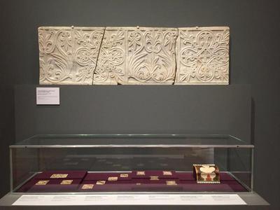 Bulgaria, Archaeological Museum of Preslav, Preslav Treasure, wall covering plaque and tiles
