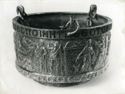 Silver censer, with gilding and niello. Antalya Museum, 1019 Kumluca (Korydalla), Byzantine period, 6th century