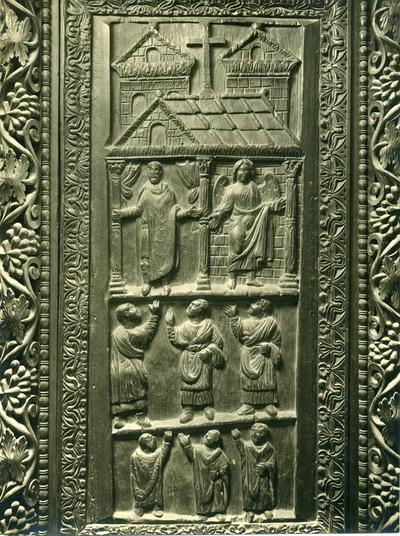 Rome, St. Sabina's basilica. Panel from the wooden entrance door of the narthex - Cesare Faraglia Fotografo, Via Messina 14 (Fuori Porta Pia)