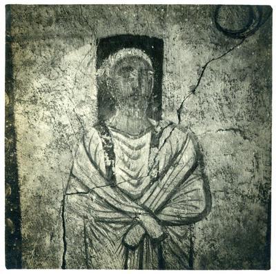Muñoz - Figura di un personaggio ignoto, III secolo, nella sinagoga di Dura Europos, Mission de Doura Europos, Syrie. Campagne 1932-1933 - Photo Maurice Le Palud N. 1.243