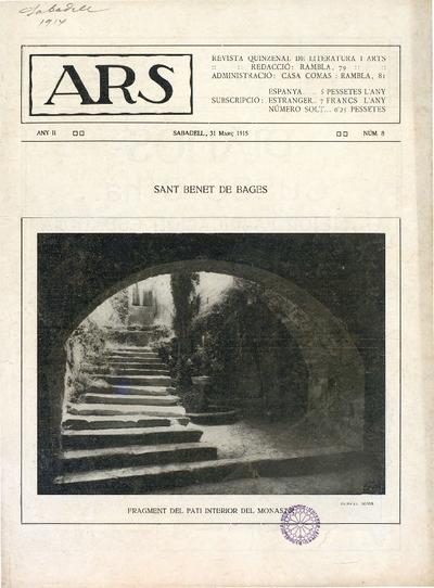 Ars : Revista quinzenal de literatura i arts