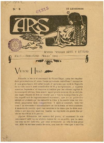 Ars : revista mensual : arte y letras