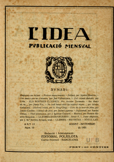 L'Idea : revista d'arts